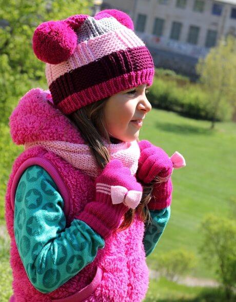 Dětské pletené rukavice