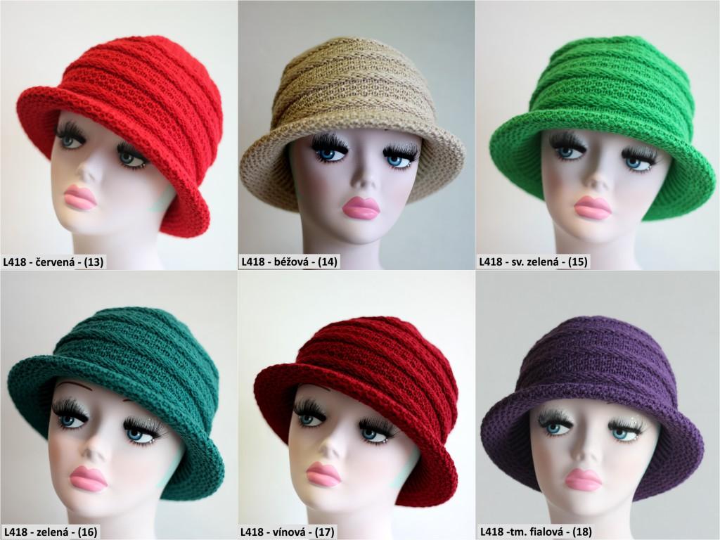 Pletený klobouk PLETEX L418-13-18