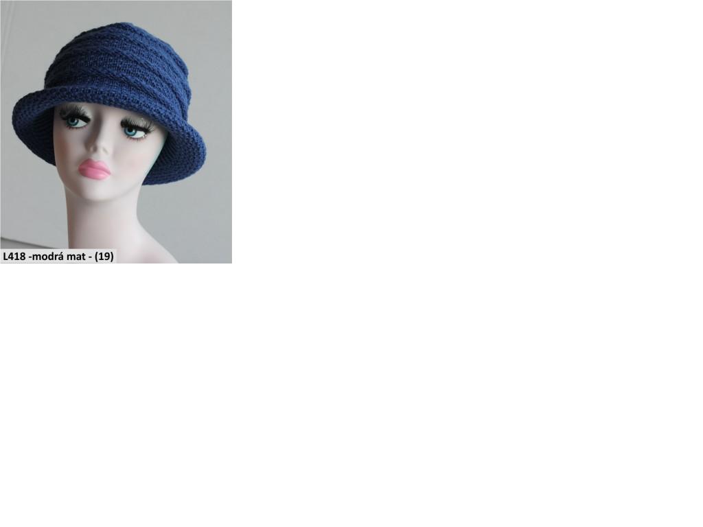 Pletený klobouk PLETEX L418-19
