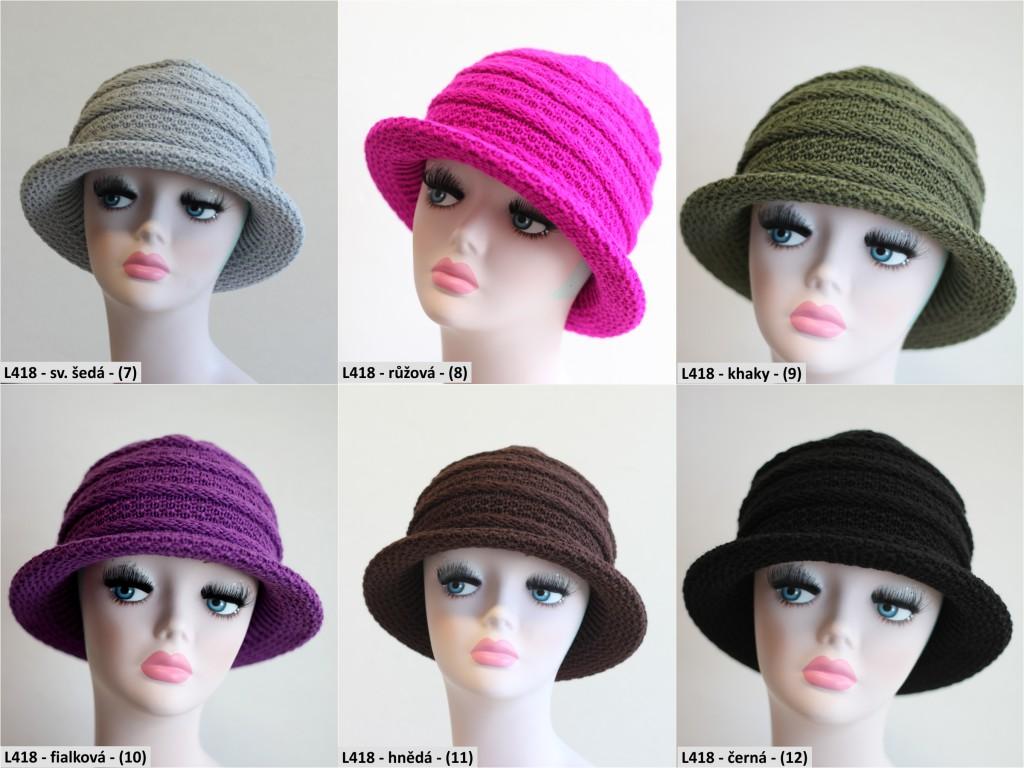 Pletený klobouk PLETEXL418-7-12